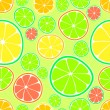 Stock Vector: Vector background with citrus.