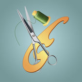 Sewing tools. — Stockvektor