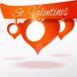 Vector background with hearts for Valentine's day. — Stock Vector