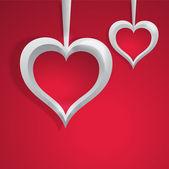 Vektor bakgrund med hjärtan. — Stockvektor