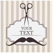 Da saloni di parrucchiere sfondo vettoriale. — Vettoriale Stock