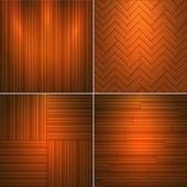 Set of wooden textures. — Stock Vector