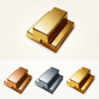 Vector illustration of gold bars. — Stock Vector