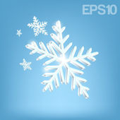 Christmas background with snowflakes. — Stock Vector
