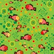 Vector folk background with fishes. — Stock vektor