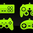 Royalty-Free Stock Vektorgrafik: Gamepad joysticks.