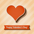 Vector card for Valentine's Day. — Vettoriali Stock