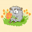 Stock Vector: Cute cartoon sheep.