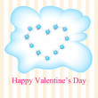 Vector greeting card for Valentine's day. — 图库矢量图片