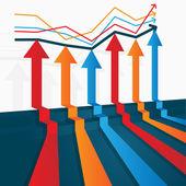 Colored arrows vector — Stock Vector