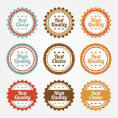 Collection of Premium and High Quality labels — Stock Vector
