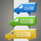 Delivery truck with delivery sign — Stock Vector