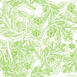 Vector floral background. — Imagen vectorial