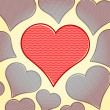 Vector background with hearts — Imagen vectorial