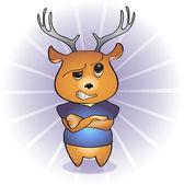 Disgruntled deer. — Stock Vector
