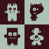 Funny monsters. — Stockvektor