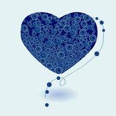 Heart necklace vector. — Stock Vector
