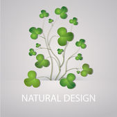 Vector background with clovers. — Stock Vector