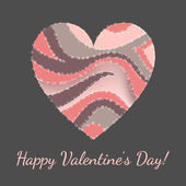 Vector greeting card for Valentine's day. — Vector de stock