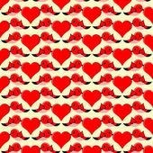 Vector background with bird in love. — Stock Vector