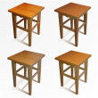 Vector set of wooden chairs. — Stock Vector