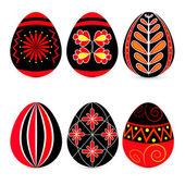 Vector set of easter eggs. — Stock Vector