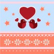 Stock Vector: Vector greeting card for Valentine's day