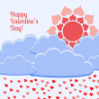 Vector card for Valentine's day. — Vector de stock #18501487
