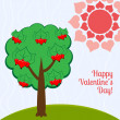 Royalty-Free Stock Imagen vectorial: Tree with hearts.