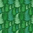 Green floral background. — Vector de stock