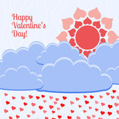 Vector card for Valentine's day. — Stock Vector