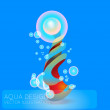 Vector abstract background with bubbles. — Stock Vector