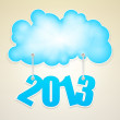 Vector cloud with number of new year 2013. — Stock Vector