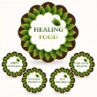 Vector icons set for healing food. — Stock Vector #18519181
