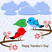 Fågel i kärlek. — Stockvektor