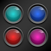 Vector set of colored buttons. — 图库矢量图片