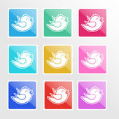 Vector set of icons with birds. — Wektor stockowy