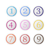 Vector set of icons with numbers. — Stock Vector