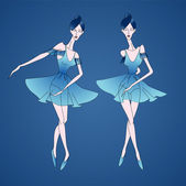Vector illustration of ballerinas. — Stock Vector