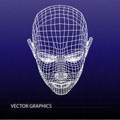 Vector model of face. — Stock Vector