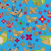Colores de fondo con los pájaros. — Vector de stock