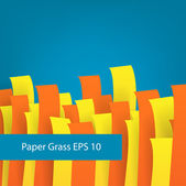 Paper grass. — Stock Vector