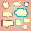 Colored speech bubbles. — Stock Vector