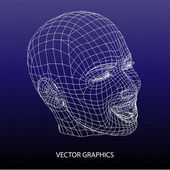 Vector model of face. — Stock Vector