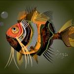 Abstract fish. — Stock Vector