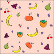 Vector background with fruit. — Stock Vector
