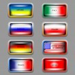 Vector set of icons with flags. — Vettoriale Stock  #18588559