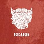 Man's beard .Vector part of face — Stock Vector #18608857