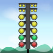 Big traffic light. — Stock Vector