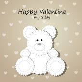 Vector greeting card with teddy bear. — Stock Vector